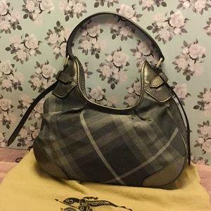 Burberry gray, silver purse